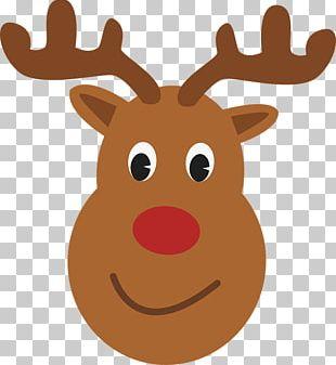 Rudolph Reindeer Santa Claus T-shirt Christmas PNG