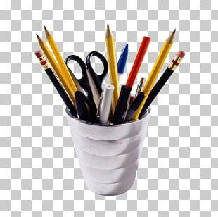 Office Supplies Pot PNG