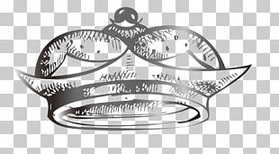 Silver Crown Drawing PNG