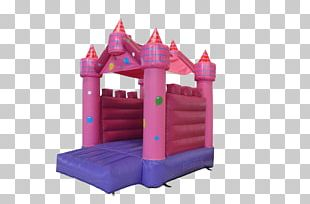 Inflatable Bouncers Pink Castle Child PNG