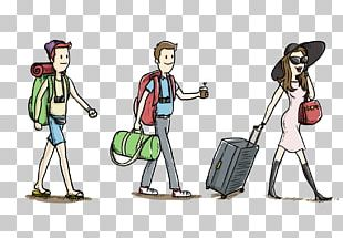 Package Tour Travel Backpacking Doodle PNG