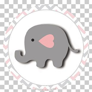 Yellow Grey Elephantidae Baby Shower Party PNG