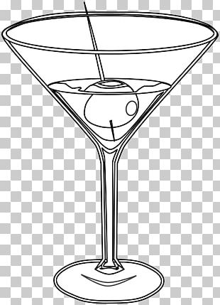Martini Cocktail Glass Drawing PNG