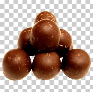 Chocolate-coated Peanut Chocolate Balls Chocolate Truffle Bonbon Mozartkugel PNG