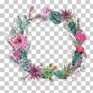 Wedding Invitation Cactaceae Flower Succulent Plant Wreath PNG