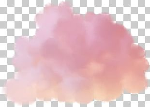 Cotton Candy Pink Cloud PNG
