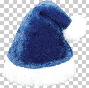 Santa Claus Hat Santa Suit Blue Christmas PNG