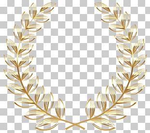 Laurel Wreath Gold PNG