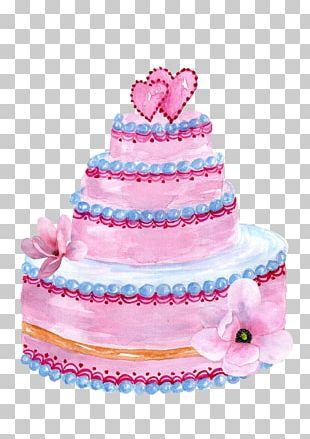 Wedding Cake Topper Sugar Cake PNG