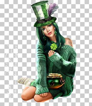 Saint Patrick's Day Woman Ireland PNG