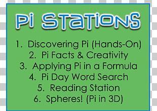 Pi Day Mathematics Worksheet Number PNG