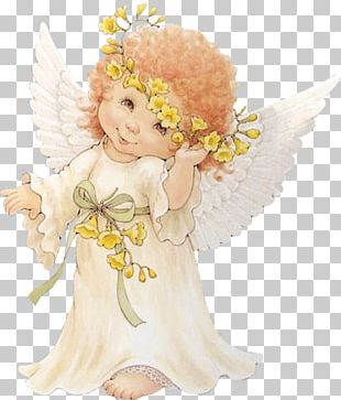 HOLLY BABES Angel Illustration PNG