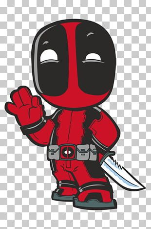 Deadpool Chibi Drawing Marvel Comics Art PNG
