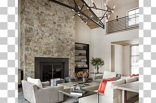 Interior Design Services Living Room Fireplace Wall PNG