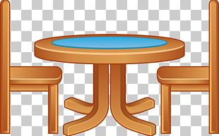 Table Chair Furniture Cartoon PNG