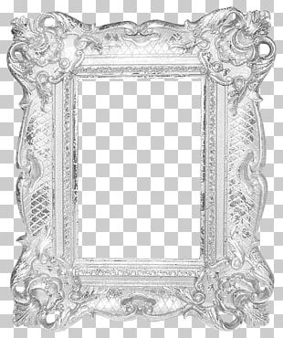 Frame Silver Mirror PNG