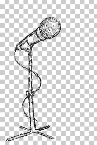 Microphone Drawing Painting PNG