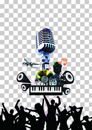 Microphone Poster Graphic Design PNG