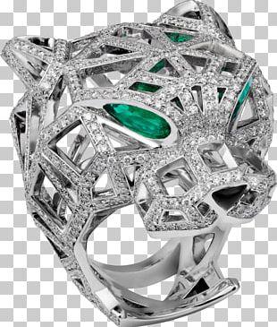 Cartier Ring Emerald Diamond Jewellery PNG