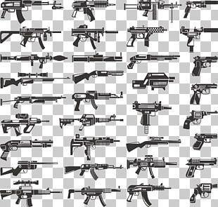 Firearm Weapon Stock Pistol Machine Gun PNG