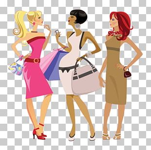 Fashion Woman Cartoon Illustration PNG