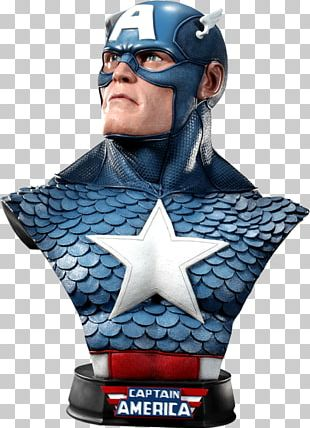 Captain America Bust United States Of America Sideshow Collectibles Action & Toy Figures PNG