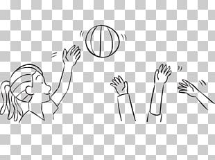 Thumb Finger Beach Ball Hand Game PNG