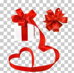 Gift Ribbon Valentine's Day Decorative Box PNG
