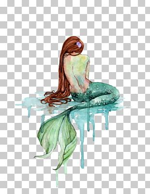 Mermaid Watercolor Painting Art Drawing PNG