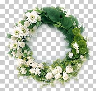 Advent Wreath Funeral Flower Garland PNG