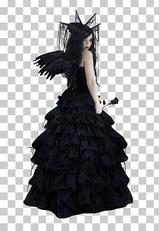 Gothic Art Gothic Fashion Dress Angel PNG