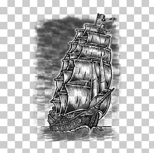 Tattoo Drawing Black-and-gray Ship Sketch PNG