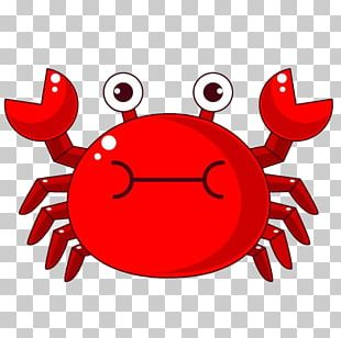 Chilli Crab Cartoon Illustration PNG