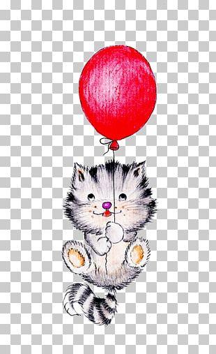 Cat Kitten Bear Balloon PNG