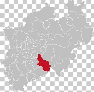 North Rhine-Westphalia Road Map Mapa Polityczna PNG