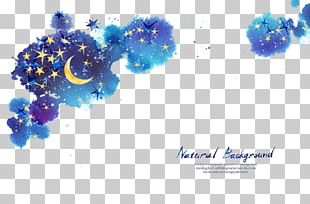 Star Moon Night Sky PNG