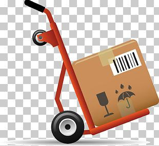 Flowers Delivery Parcel Cart PNG