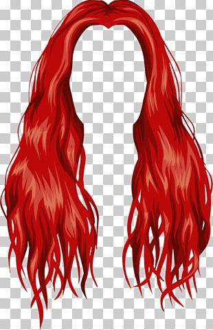 Red Hair Wig Blond PNG