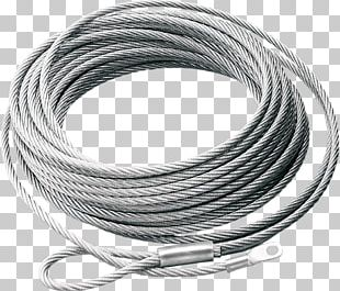 Winch Steel Wire Rope Warn Industries PNG