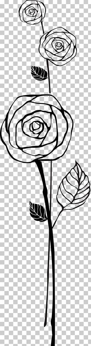 Sticker Beach Rose Flower Decal PNG