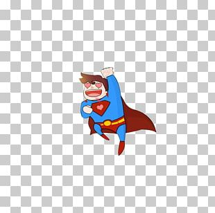 Clark Kent Cartoon Illustration PNG
