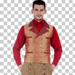 Waistcoat Double-breasted Gilets Clothing Sleeve PNG
