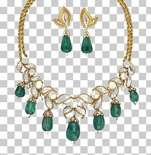 Emerald Jewellery Earring Necklace Jewelry Design PNG