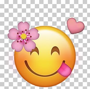 Emoji IPhone Flower Emoticon PNG