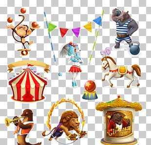 Circus Cartoon Illustration PNG