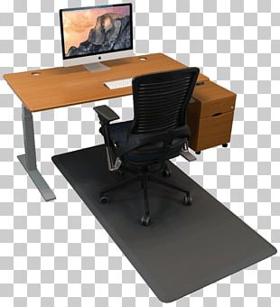 Standing Desk Table Mat Chair PNG