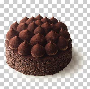 Flourless Chocolate Cake Chocolate Truffle Ganache Praline PNG