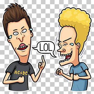 Butt-head Beavis Telegram Cartoon Sticker PNG