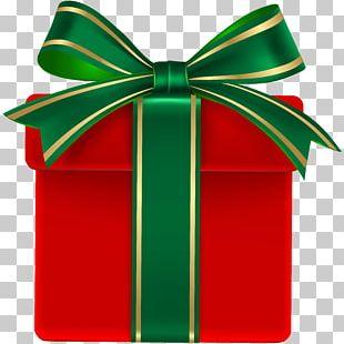 Christmas Gift Green Christmas Day PNG