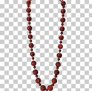 Earring Necklace Jewellery Chain Rudraksha PNG
